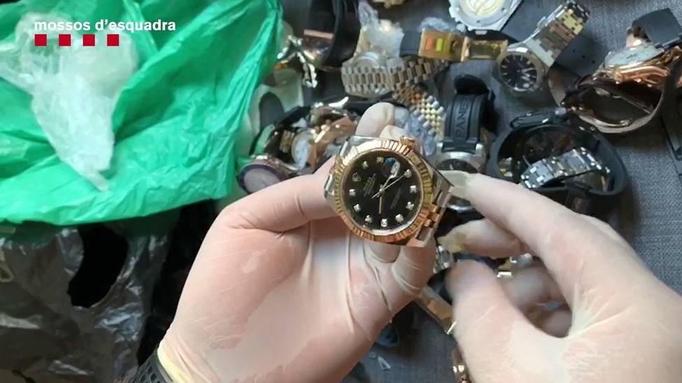 Detenidos diez miembros de una banda dedicada al robo de relojes de lujo en Barcelona