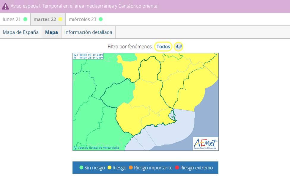 La concejalía de emergencias emite recomendaciones ante la posible llegada de fuertes lluvias