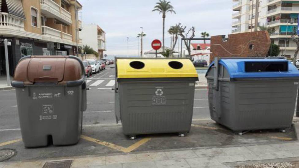 contenedores de reciclaje de basura