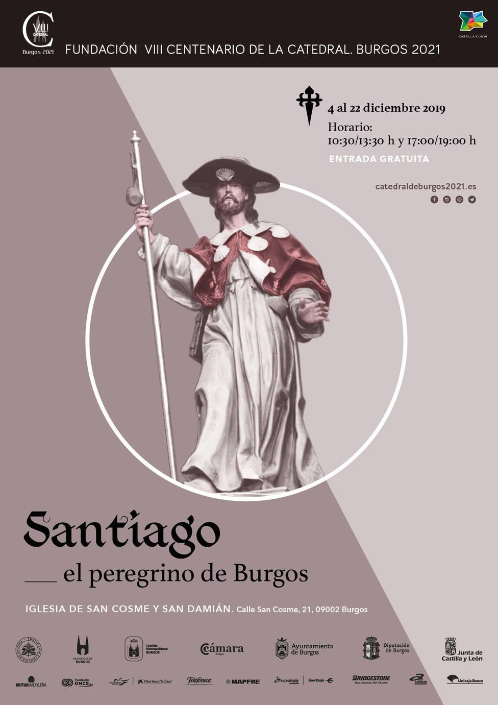 Cartel exposición Santiago el peregrino