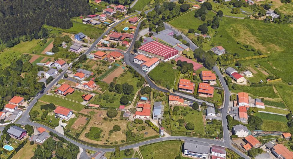Vista aérea de la zona de Pazos, en Ferrol