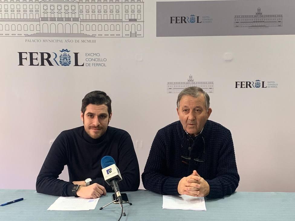 Alejandro Padilla y José Tomé, concejales del PP ferrolano