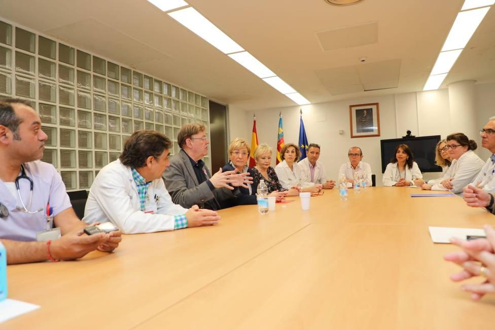 Reunión de coordinación ante el coronavirus de la Generalitat Valenciana