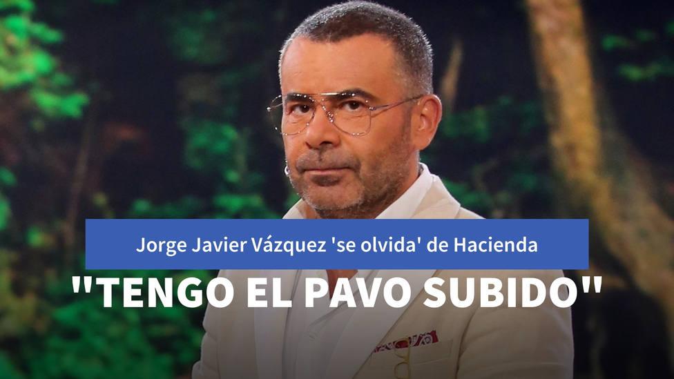 Jorge Javier Vázquez se olvida de Hacienda en sus primeras palabras tras la polémica: Tengo el pavo subido
