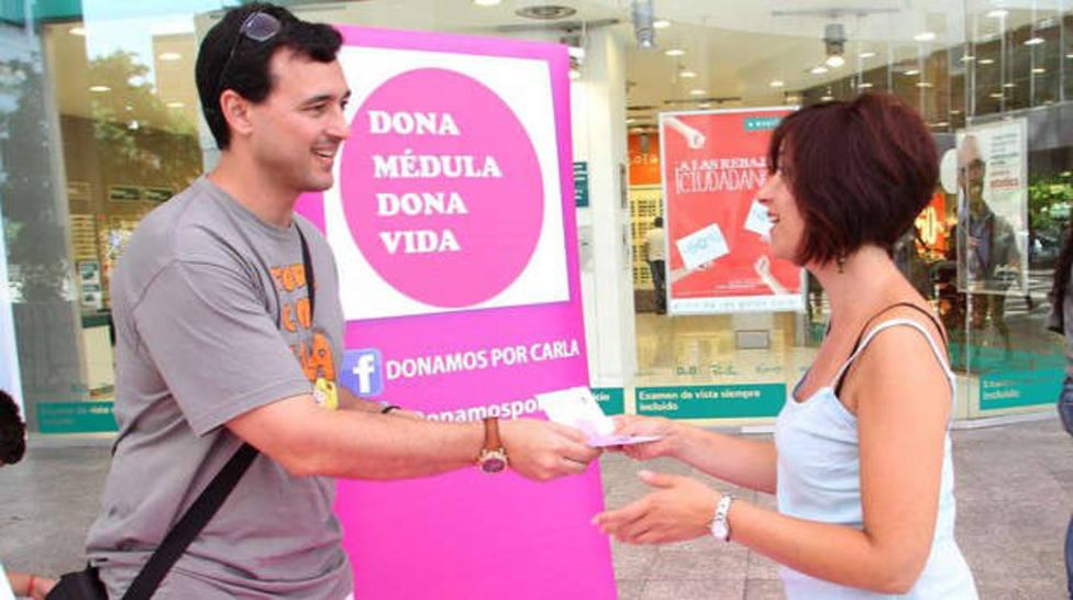 Campaña para promover la donación de médula en Sevilla.