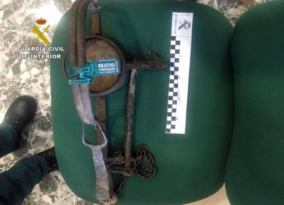 Investigan a dos vecinos de Ricote por colocar un cepo que causó lesiones a un perro y a su dueña