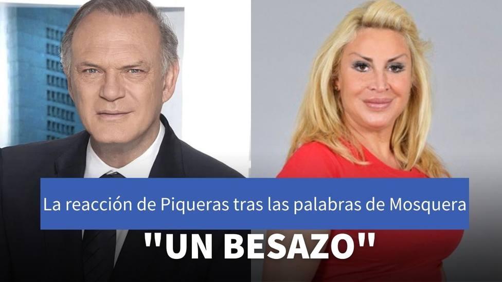 La curiosa reacción de Pedro Piqueras al ser presentado por Raquel Mosquera en Sálvame