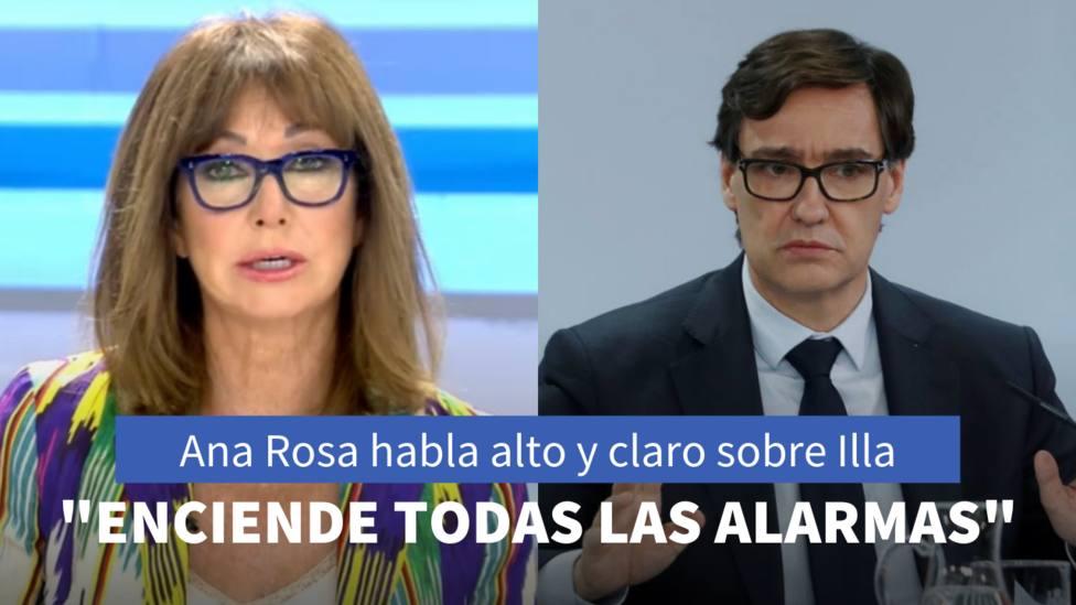 Ana Rosa Quintana y Salvador Illa