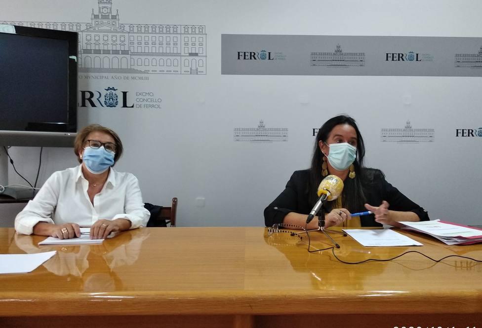 Eva Martínez y Concha Rubio en rueda de prensa. FOTO: Concello de Ferrol