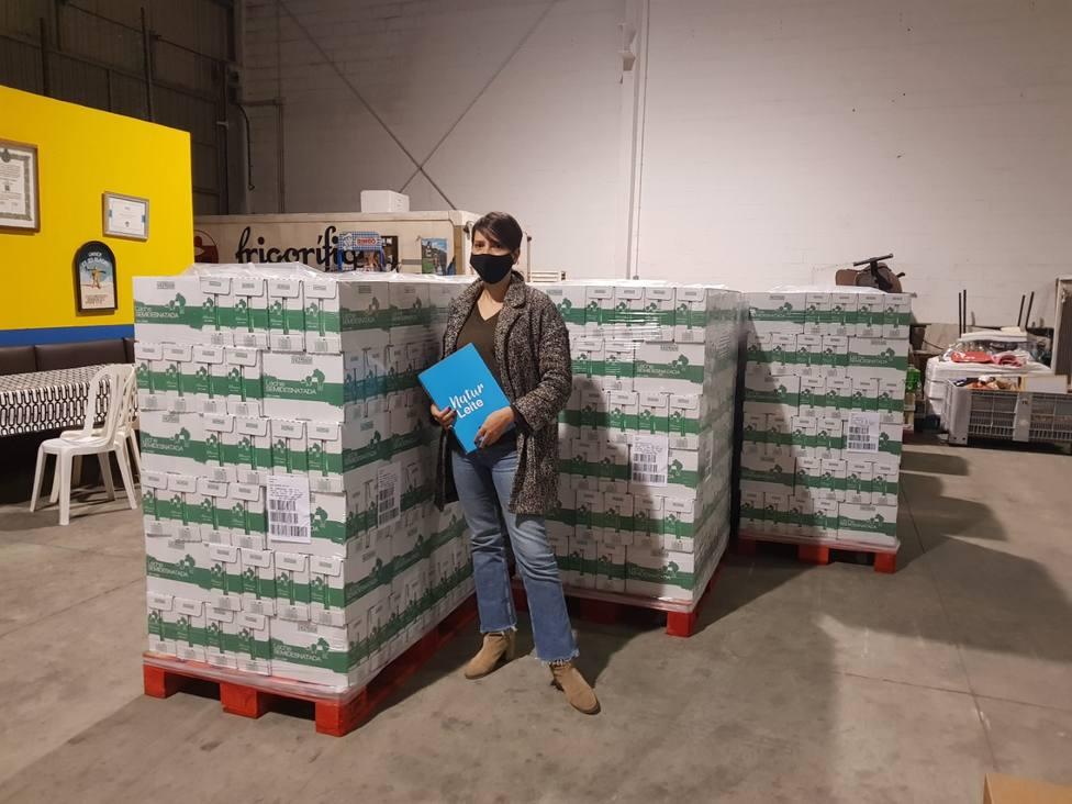 Naturleite entrega 15.000 litros de leche al Banco de Alimentos de Lugo