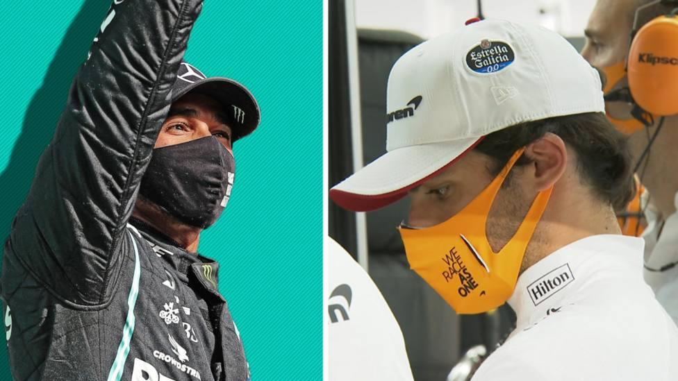 Hamilton elevó su récord a 98 poles y Sainz abandonó en la Q2