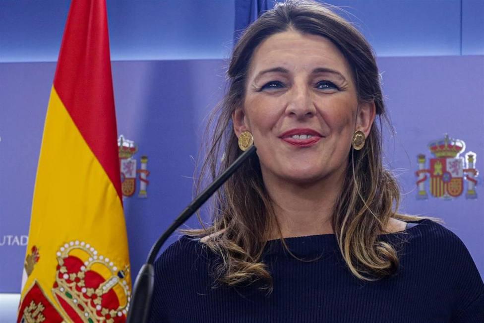 Yolanda Díaz, Ministra de Trabajo y de cuya cartera depende el SEPE