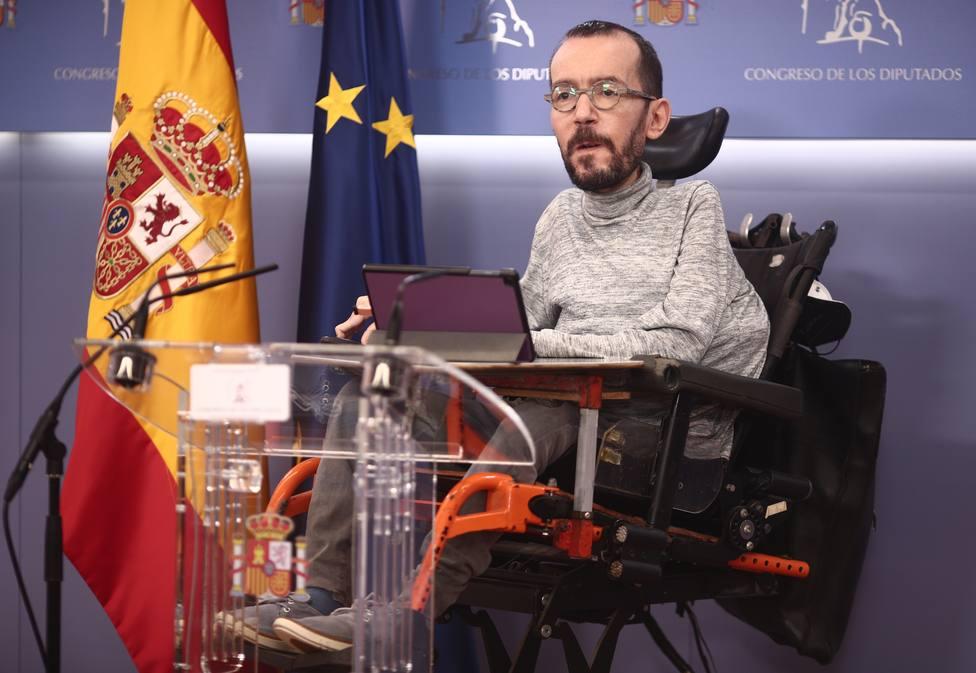 El portavoz parlamentario de Unidas Podemos, Pablo Echenique