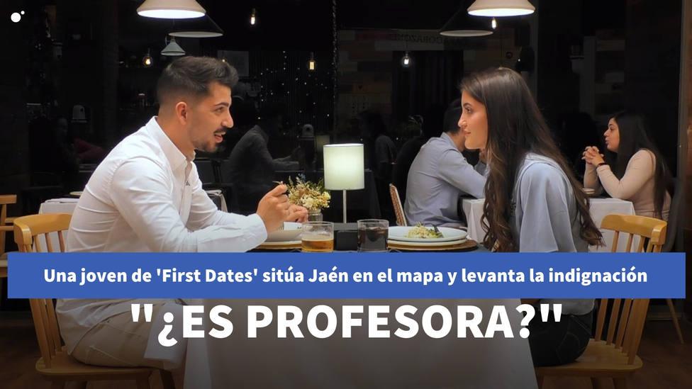"""Una joven de First Dates sitúa Jaén en el mapa y levanta la indignación con el programa: """"¿Es profesora?"""