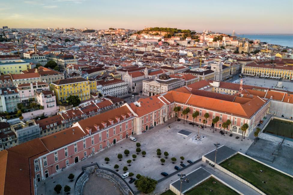 Vista aérea de la capital de Portugal, Lisboa