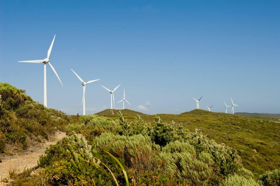 Parque eólico ubicado en Galicia