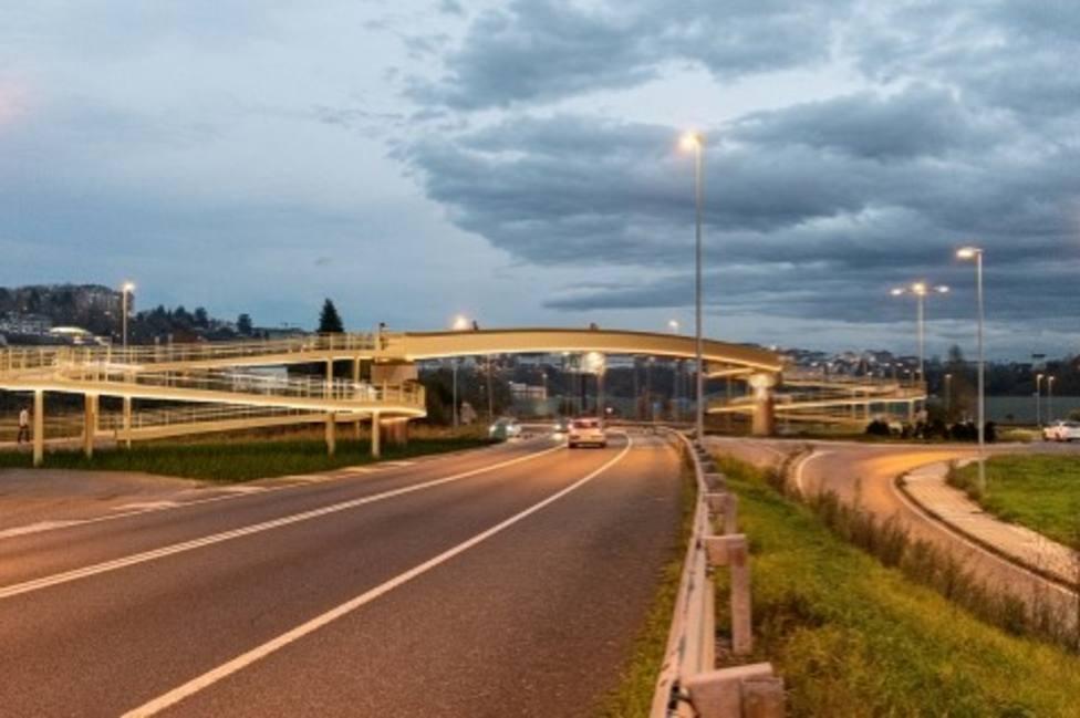 La nueva pasarela en la zona de As Saamasas