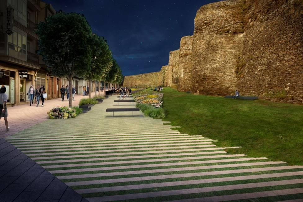 Proyecto de peatonalización de A Mosqueira