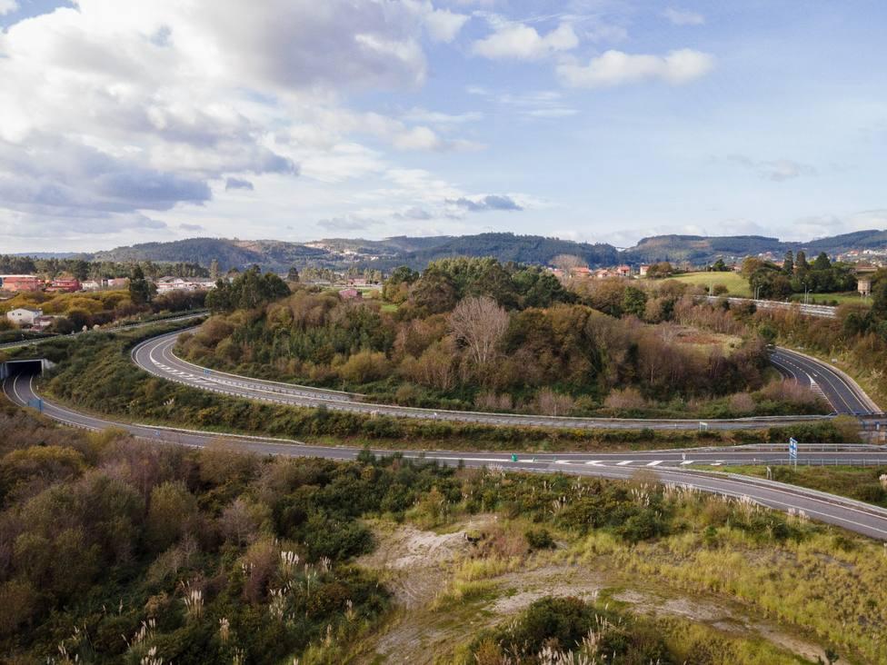 Vista aérea de Leixa, donde se podría ubicar un polígono industrial para Ferrol. FOTO: SEA