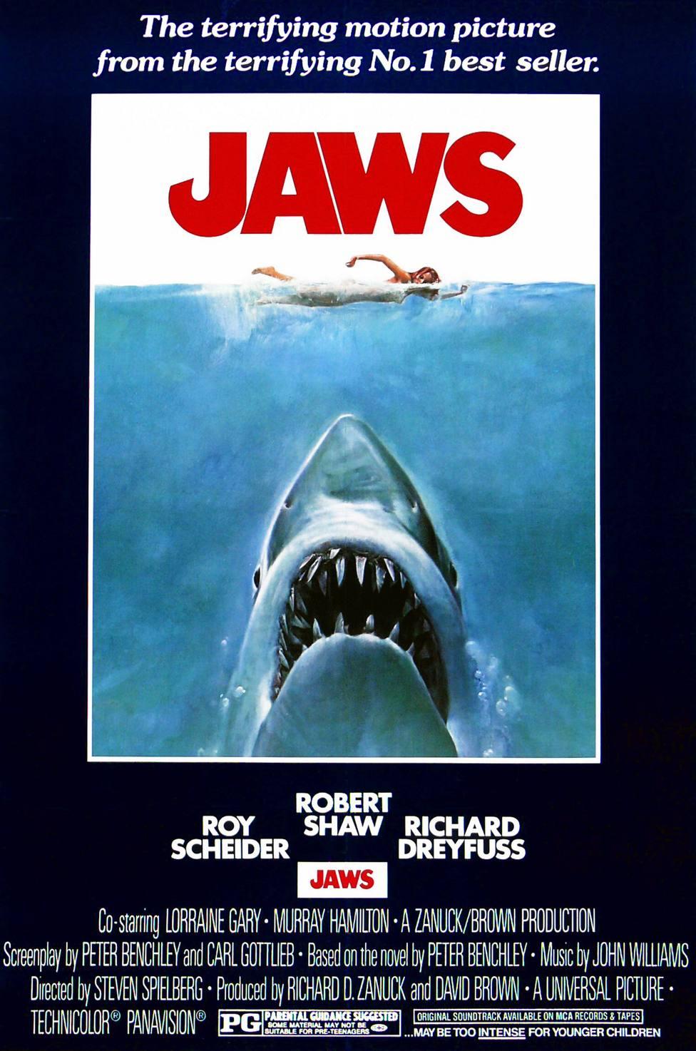 Jaws a 1975 American Thriller film starring Roy Scheider.