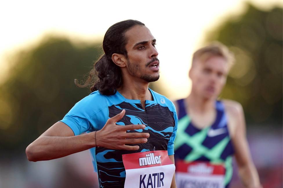 Mo Katir durante la competición en Gateshead.