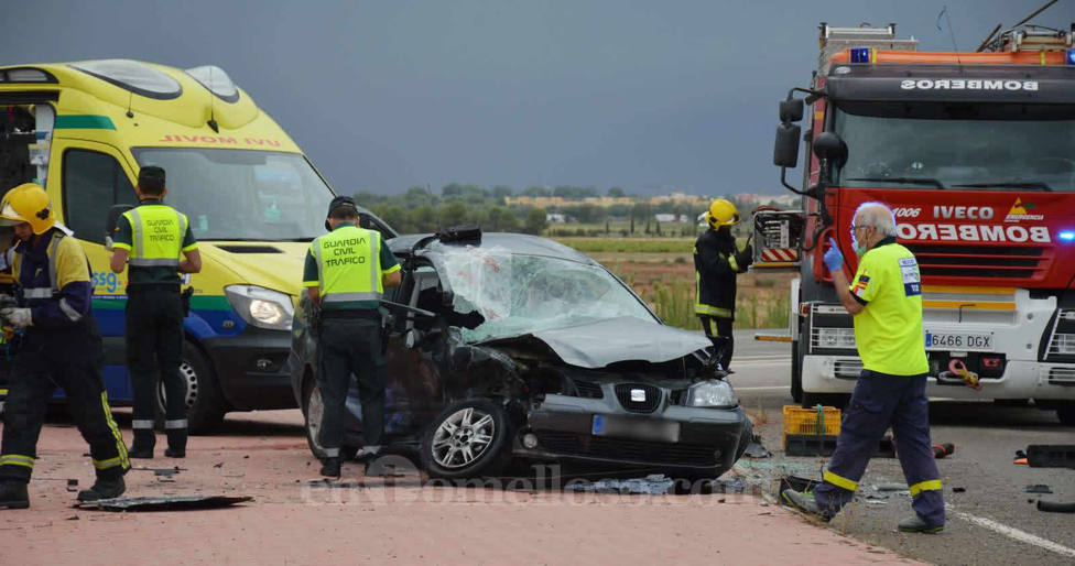 Choque de vehículos en Tomelloso