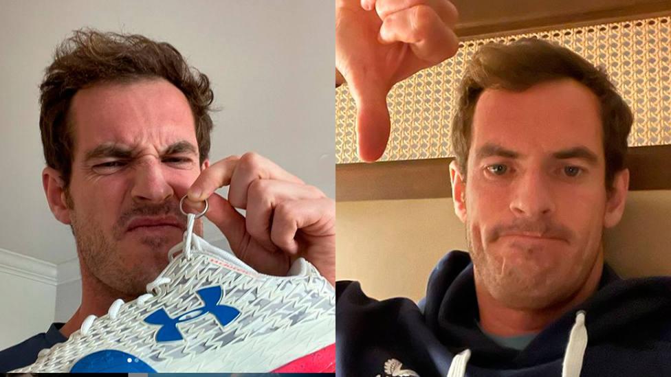 Andy Murray recuperó las zapatillas y la alianza que extravió horas antes