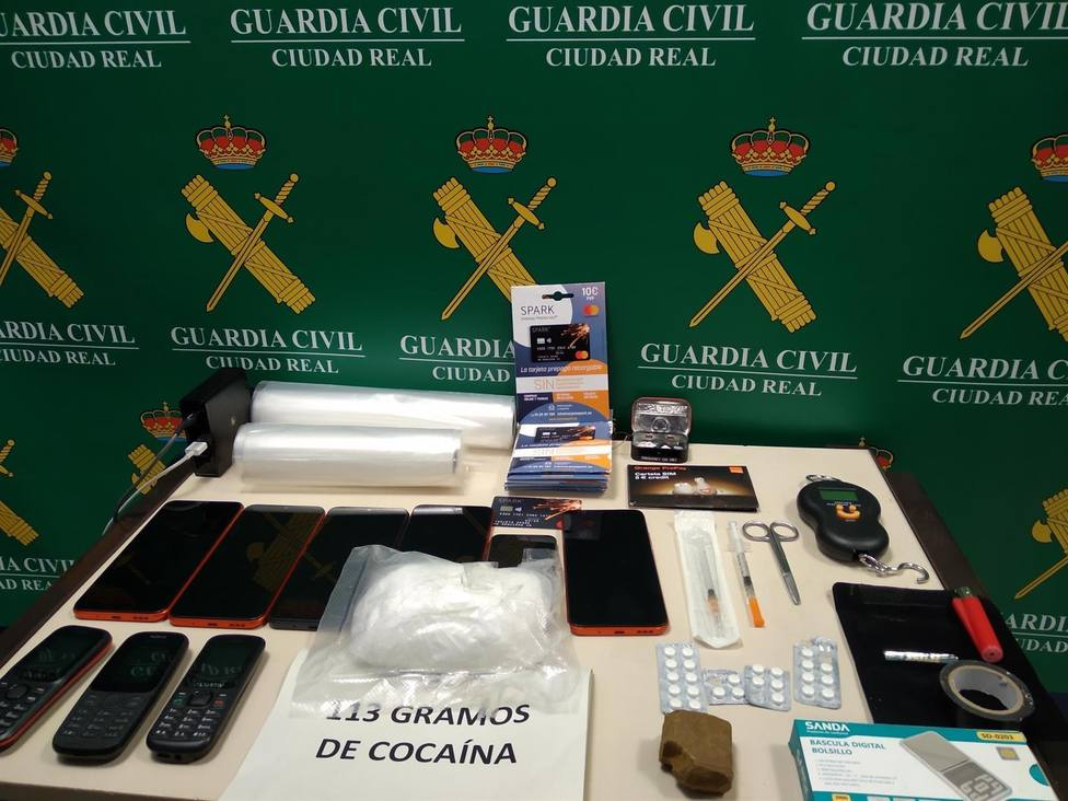 Guardia Civil detiene a un hombre en Ciudad Real e incauta 113 gramos de cocaína y 32,5 de hachís