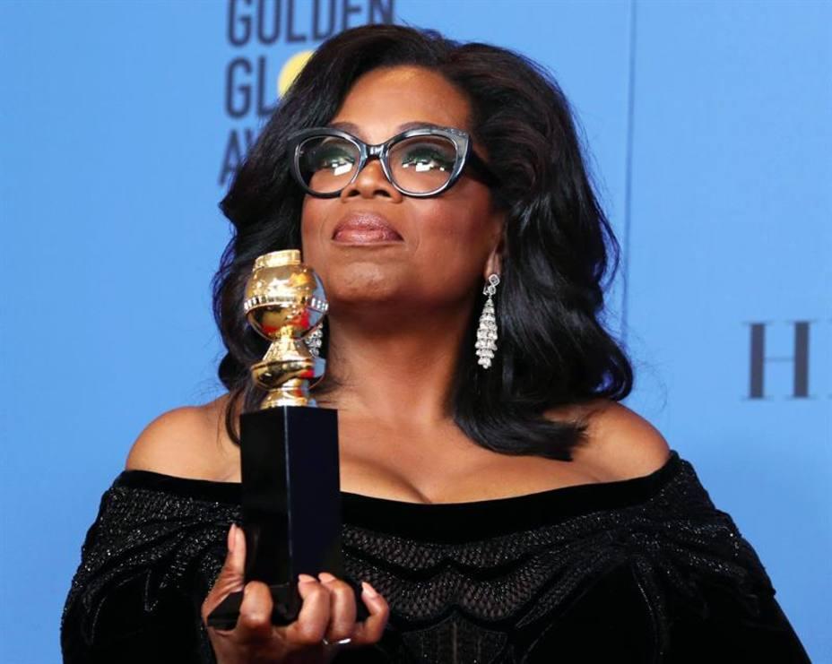 Oprah Winfrey recibe el premio Cecil B. DeMile de los Globos de Oro