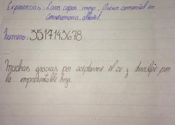 El Joven Argentino Que Escribio Su Curriculum Vitae A Mano Y Ahora