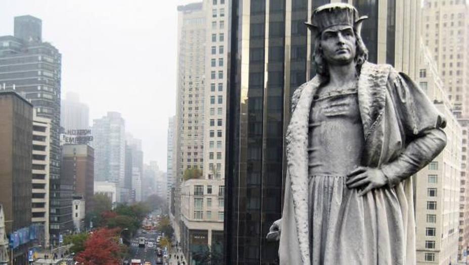 La estatua de Colón en Nueva York, registrada como lugar histórico nacional
