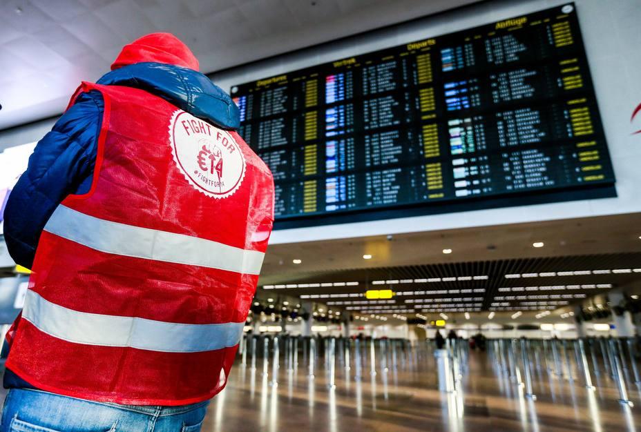 Bélgica cierra su espacio aéreo por huelga general