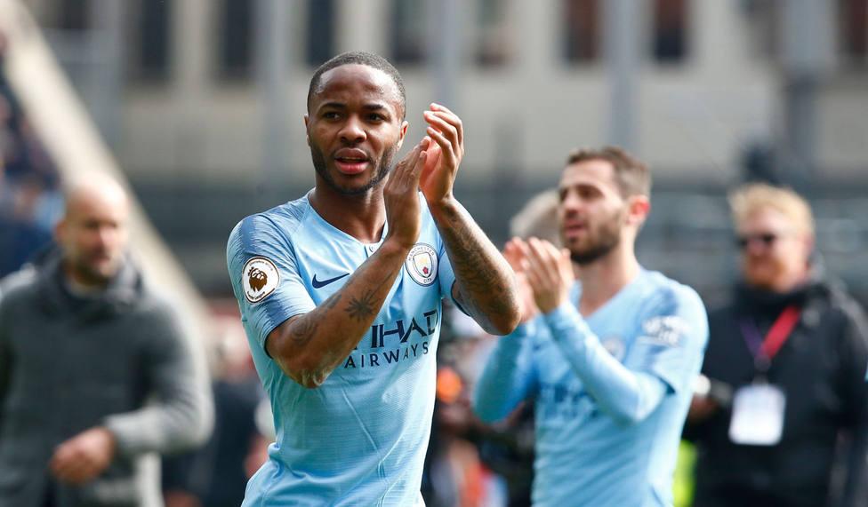 Sterling celebra la victoria del City (EFE)