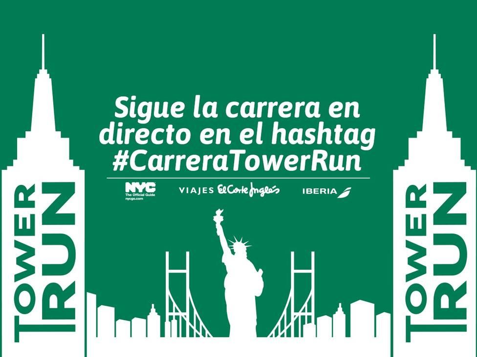 Cien corredores participan este viernes en la carrera vertical Tower Run en el Corte Inglés de Callao