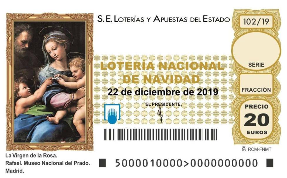 Décimo de la lotería de Navidad de 2019