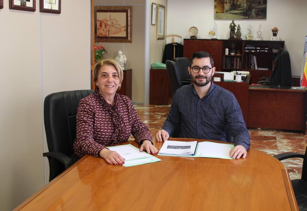 Samuel Falomir y Ana Huguet