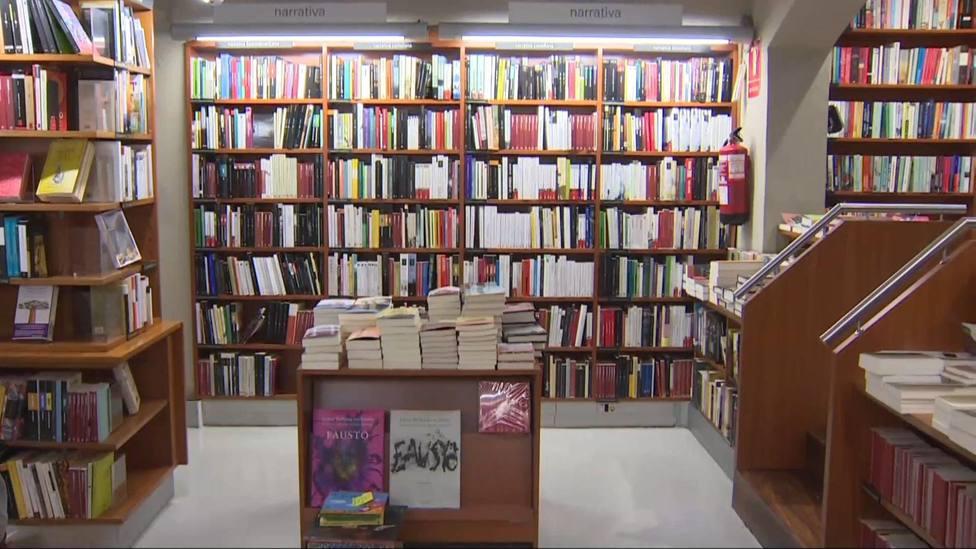 Imágenes de una librería en Barcelona