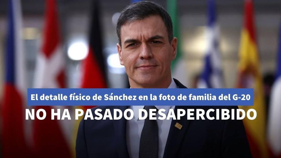 El detalle de Sánchez en la foto del G20 que afecta de lleno a su físico