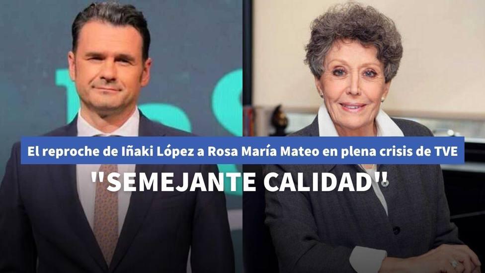 Iñaki López reprocha a Rosa María Mateo la parrilla televisiva de TVE en plena crisis de audiencia