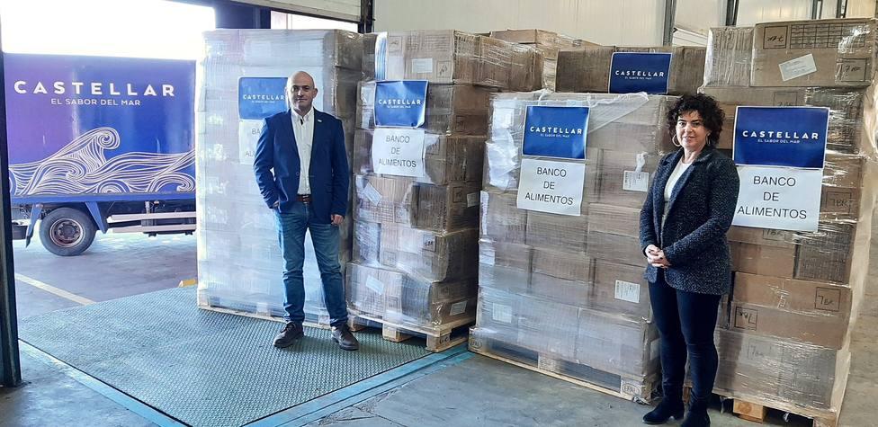 Mariscos Castellar dona 5.330 kilos de productos alimenticios a la Fundación Banco de Alimentos de Jaén