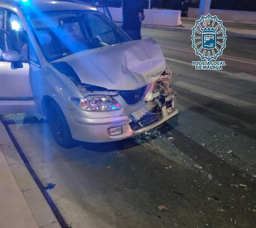 Imagen de como quedó el vehículo tras su detención.