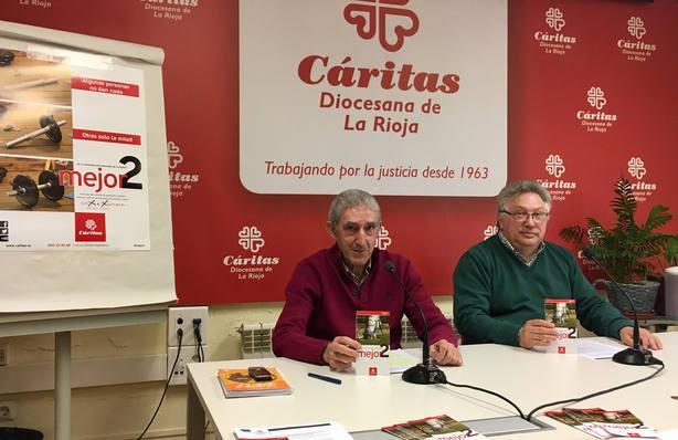 Luis Lleyda, director de Cáritas La Rioja, y José Andrés Pérez, delegado diocesano de Acción Caritativa