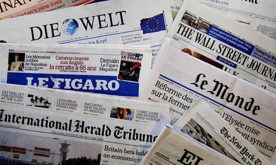 Portadas de los principales periódicos franceses