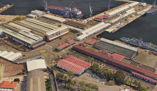 Vista general de Navantia Ferrol