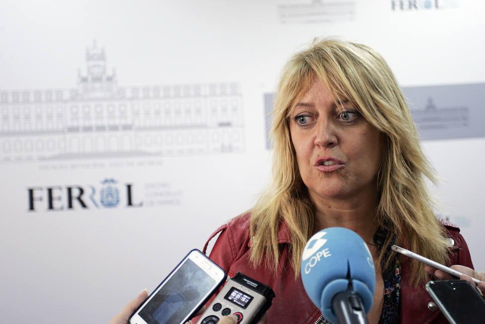 La secretaria general del PSdeG-PSOE de Ferrol, Beatriz Sestayo
