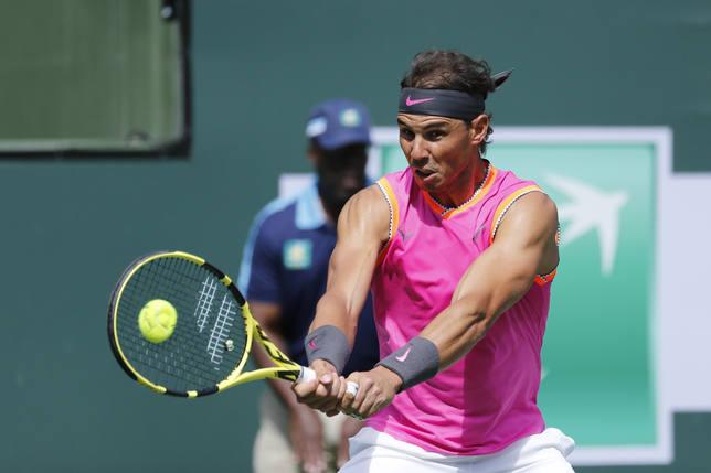 Tenis/Indian Wells.- Nadal accede sin sustos a los cuartos de final