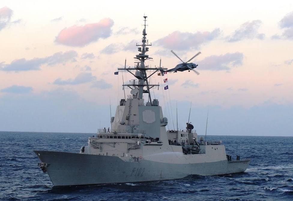 Foto de archivo de la fragata F-102 Almirante Juan de Borbón - FOTO: Armada