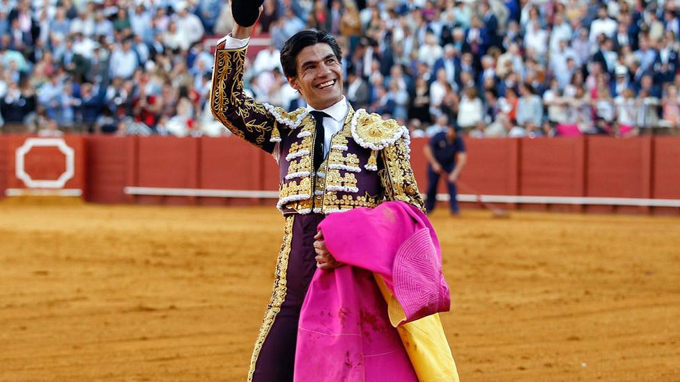 Pablo Aguado durante su triunfal tarde en la Feria de Abril de Sevilla