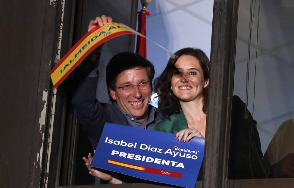 Díaz Ayuso gobernará la Comunidad de Madrid con el apoyo de Cs y Vox