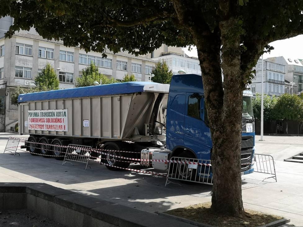"""El presidente de los transportistas del carbón de As Pontes asegura que """"la gente ya está desesperada"""""""